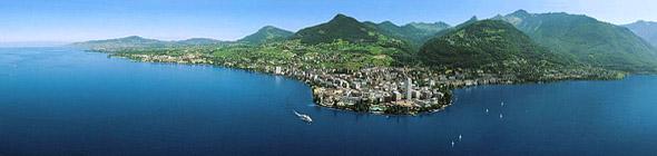 Foto panoramica de Montreux